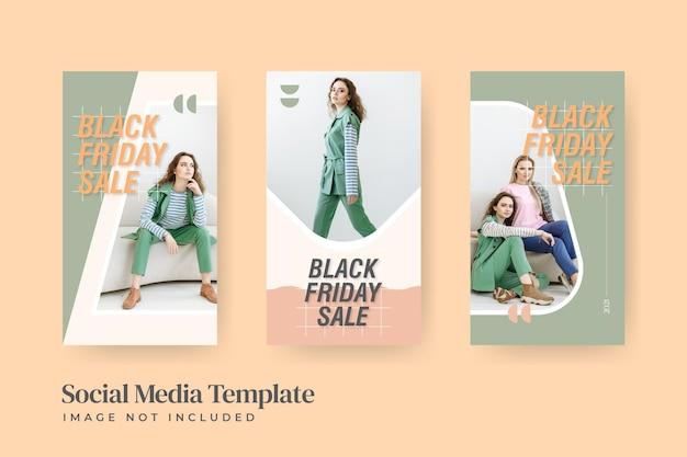 Minimalistische mode-sjablonen voor sociale media