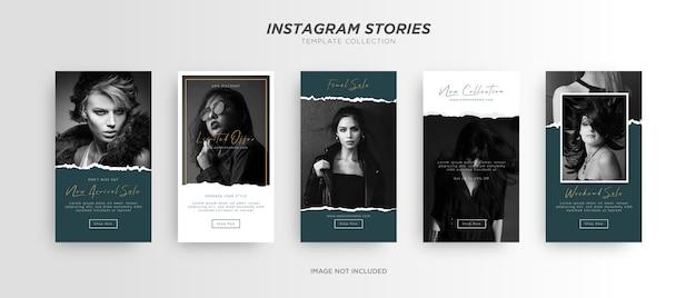 Minimalistische mode social media instagram-verhaal