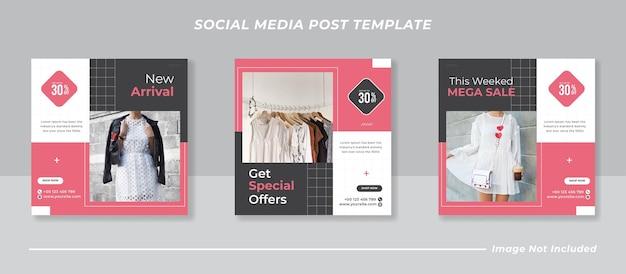 Minimalistische mode verkoop instagram postsjabloon