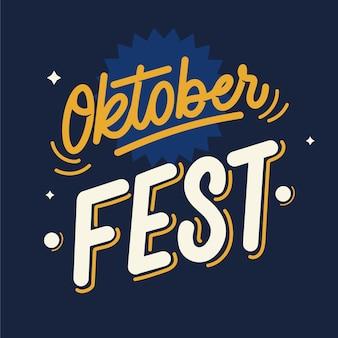 Minimalistische oktoberfest evenement belettering