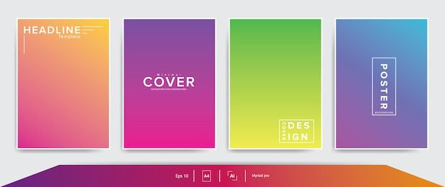 Minimalistische omslagboeksjabloon