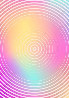 Minimalistische omslagsjabloon met hellingen