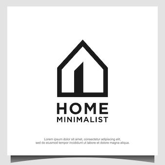 Minimalistische onroerend goed logo ontwerp vector