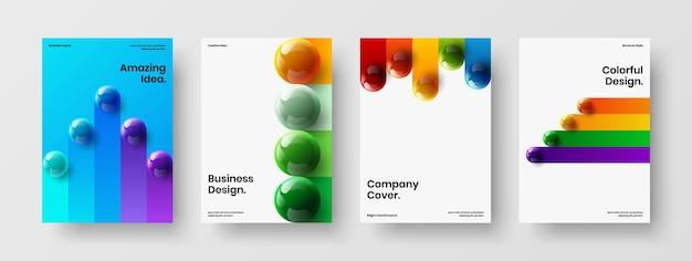 Minimalistische pamflet vector ontwerp illustratie set