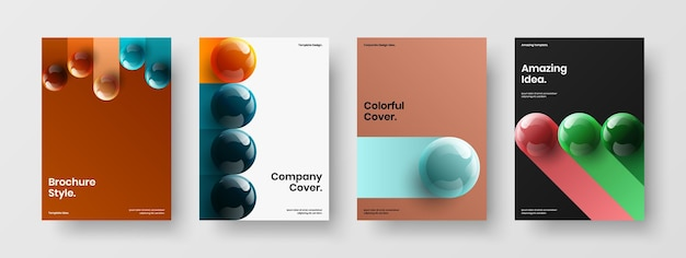Minimalistische pamflet vector ontwerpsjabloon bundel