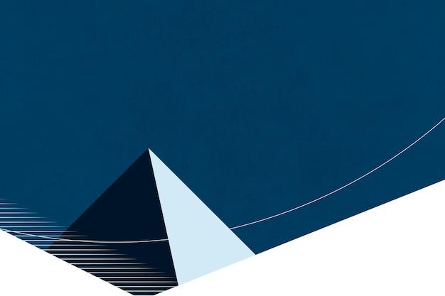 Minimalistische piramide landschap retro posterstijl