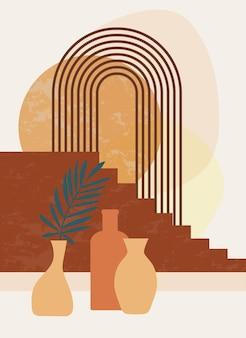 Minimalistische poster in boho-stijl