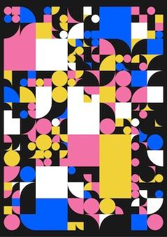 Minimalistische poster met eenvoudige vormen.
