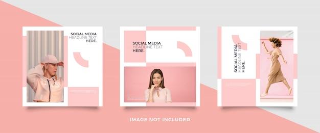 Minimalistische postsjabloon op sociale media