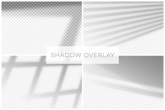 Minimalistische schaduwen overlay-effectdecoratie