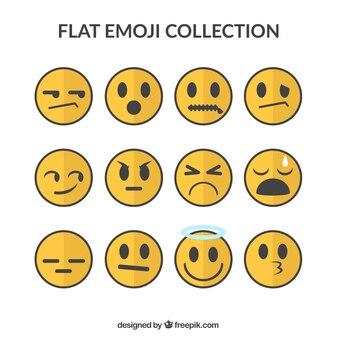Minimalistische set van decoratieve emojis