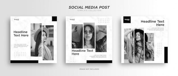 Minimalistische social media postsjabloon