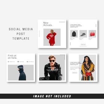 Minimalistische sociale media sjabloon
