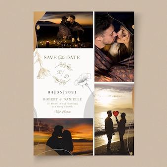 Minimalistische stijl trouwkaart