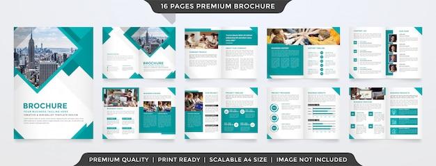 Minimalistische tweevoudige brochure sjabloon