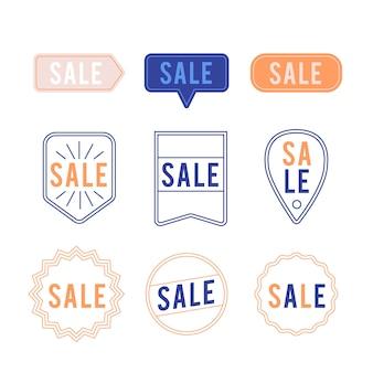 Minimalistische verzameling verkooplabels