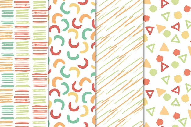 Minimalistische vormen abstract hand getekend patroon