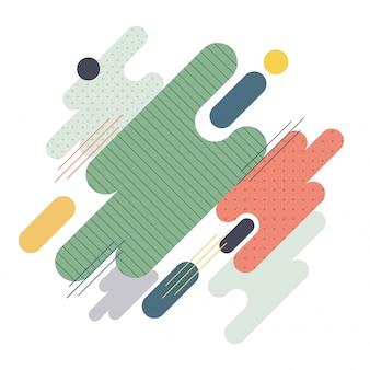 Minimalistische vormgeving, geometrische vormen, abstracte platte achtergrond.