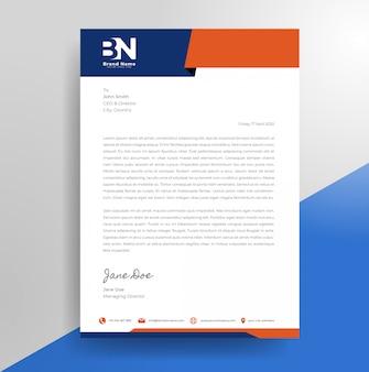 Minimalistische zakelijke briefhoofd ontwerpsjabloon