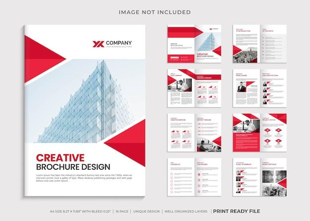 Minimalistische zakelijke brochure met meerdere pagina's