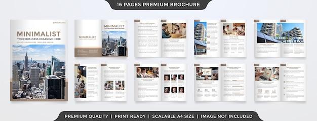 Minimalistische zakelijke brochure sjabloon
