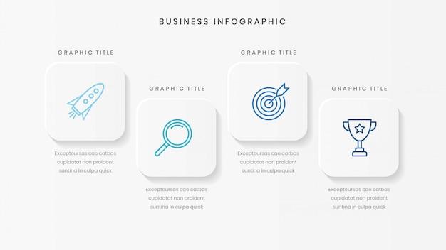 Minimalistische zakelijke infographic sjabloon