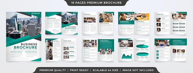 Minimalistische zakelijke tweevoudige brochure sjabloonstijl