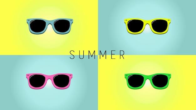Minimalistische zomer achtergrond