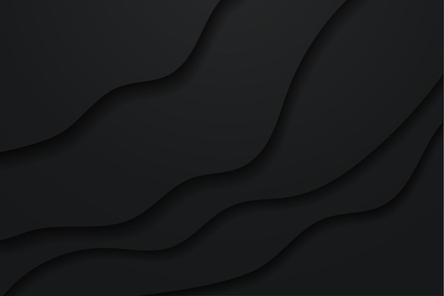 Minimalistische zwarte achtergrond in papierstijl