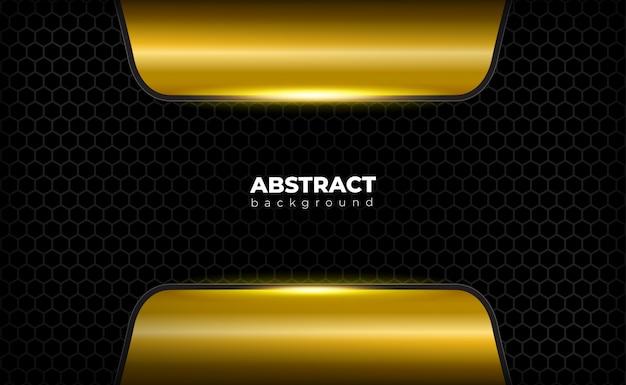 Minimalistische zwarte gouden achtergrond met veelhoek