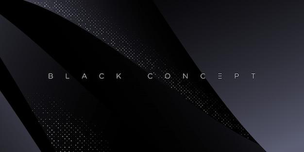 Minimalistische zwarte premium abstracte achtergrond met luxe donkere geometrische elementen. exclusief behang voor poster, brochure, presentatie, website, banner etc. -