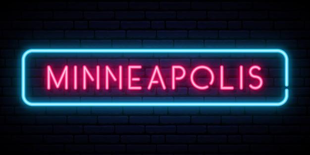 Minneapolis lichtreclame.
