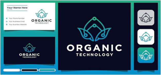 Mint blad groen lijn blad logo bladvormig ontwerp logo met lijnen concept