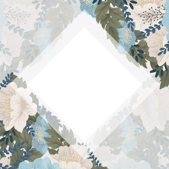 Mintgroen bloemenframe