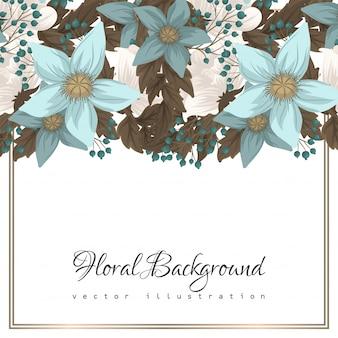 Mintgroene bloemenachtergrond
