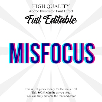 Misfocus effect lettertype tekststijl