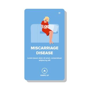 Miskraam ziekte zwanger meisje probleem
