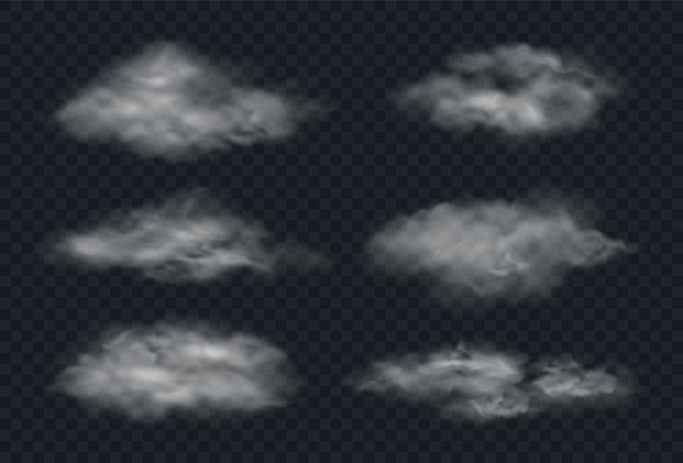 Mist of rook geïsoleerd op transparante achtergrond