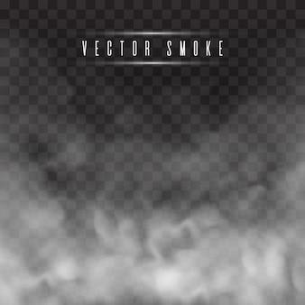 Mist of rook geïsoleerd transparant speciaal effect.