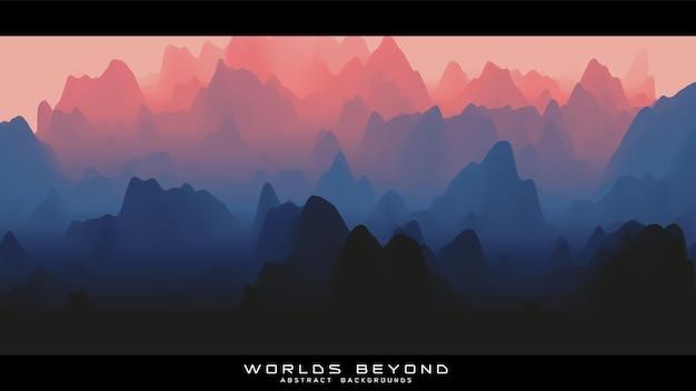 Mist over bergen achtergrond
