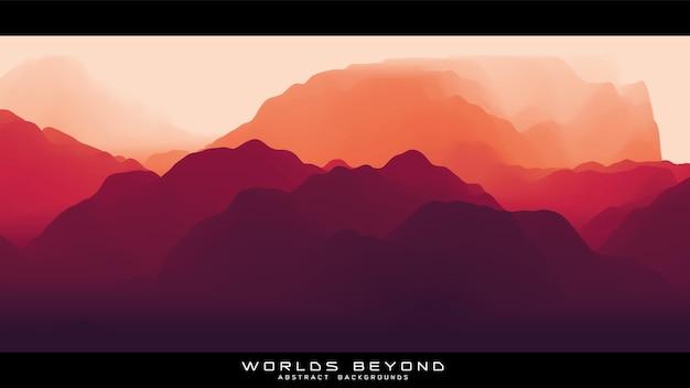 Mist over bergen. landschap panorama