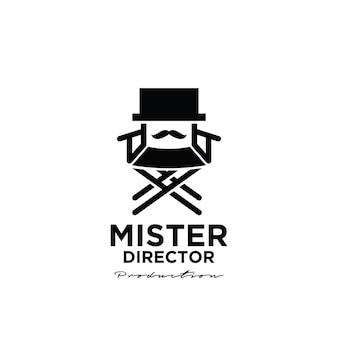 Mister film vintage logo Premium Vector