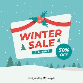 Mistletoe winter verkoop achtergrond