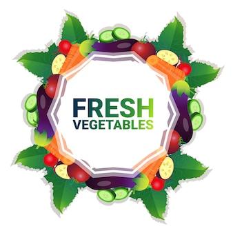 Mix plantaardige kleurrijke cirkel kopie ruimte organische over witte patroon achtergrond gezonde levensstijl of dieet concept