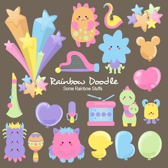 Mizu rainbow objects doodle