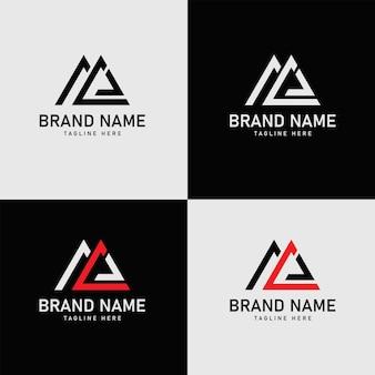 Ml brieven eerste logo ontwerp vector