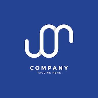 Mo letter logo design