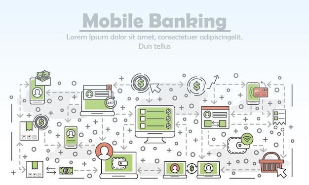 Mobiel bankieren banner