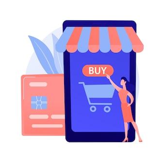Mobiel bankieren, e-bankieren app. digitale portemonnee, online betalingssysteem, bankapplicatie. moderne financiële diensten, e-betalingsidee ontwerpelement.
