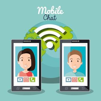 Mobiel chatontwerp